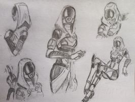 sketches Tali (8) by spaceMAXmarine