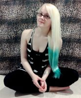 Blue and Blonde Hair by Lovely-LaceyAnn-Art