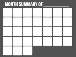 Month Summary meme blank by NiNoZaP0