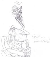 online halo 4 cat fight by rabidminimoose