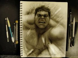 Hulk Sketch by IsaiahStephens
