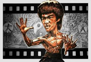 Bruce Lee caricature by tonio48