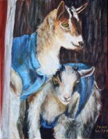 Baby Goats in Oils by Wulff-Arts