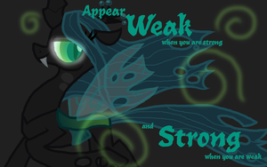 Queen Chrysalis WP by highray