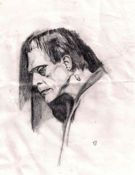 Karloff as the Monster by Gossamer1970