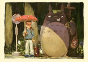 GiftFan Art : Kidnapper Totoro by ashiong