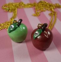 Tiny Apple Necklace by FatallyFeminine