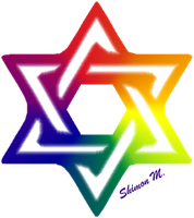 Shield of David - Pride Colors by shimon83