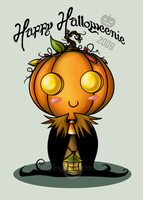 Happy Halloweenie by slimyfrogz
