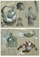 Iron man and Stark sketches by Nezart