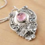 Spoon Pendant Pink Tourmaline by metalsmitten