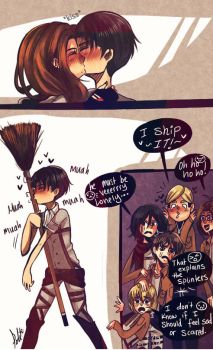 Levi X His Broom by IntrovertNarwhal