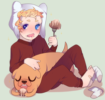 boy and his pup pup by oliviaisdeadinside
