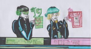 Tron Uprising~ Holographic Co-Worker Hearts by X-Miss-Valerie-X