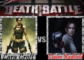 Death Battle: Lara Croft vs Claire Redfield by MissCatarina