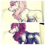 Red Lion Progress Sketch by DoubleTrouble94