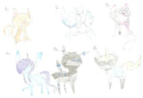 Alien kitty adopts 3 by HerpAdopts