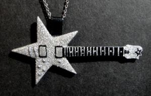 Star Guitar Pendant by frenziedsilence