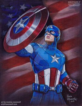THE FIRST AVENGER - Captain America by The-Art-of-Ravenwolf