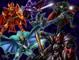 Commission: Yugioh Battle by jadenkaiba