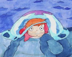 Ponyo by little-ampharos