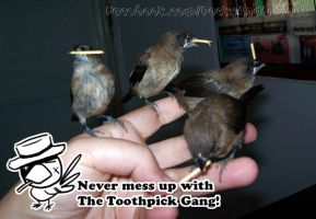 Beware of The Toothpick gangster! by emmil