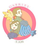 Gabriel and Sam by MugenMusouka