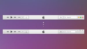 iTunes Yosemite - Windows by BluPaper