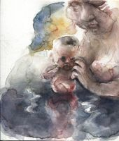 Mummy and Baby in a Swamp by ChloeC