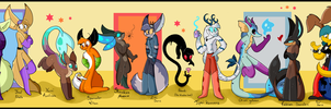 Cartoonatics character line up by Roxalew