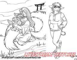 More Livestream Sketches  11 by lady-cybercat