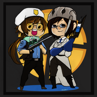 The Medic and sniper bffs :D by breaktown