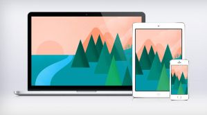 Google I/O Landscape Wallpaper Material Design by Ziggy19