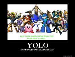 What is yolo to videogame characters by DavidTH90Animations
