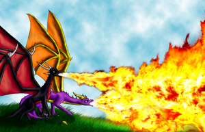 Fire breathing by Spyro-fan-25