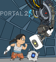 Portal 2 - The Stare Off by Dbzbabe
