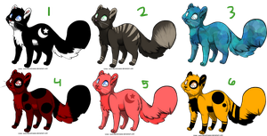 Adoptable Cats by Starlight-Airwaves