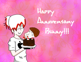 Happy Anniversary Bunny by kisekinokami