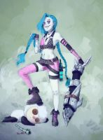 Jinx, the Loose Cannon - Leage of Legends by jimenanrp