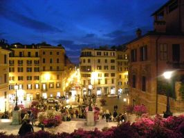The Spanish Steps by night by sophie-lugt