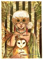 Owl Lady by Cittlalli-Guemes