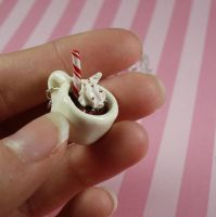 Hot Chocolate Charm Necklace by FatallyFeminine