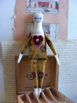 Volentina -Textile Art Doll by theseventhmagpie