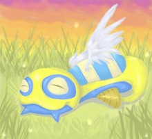 Resting Peacfully - Oekaki by LimeSlug