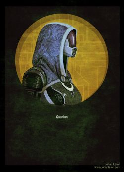 Mass Effect Poster: Quarian by JohanLeion