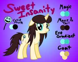 Sweet Insanity - OC Reference Sheet by Lt-Fleur