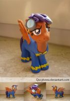 MLP Scootaloo Wonderbolts FIMO by Qucykowa