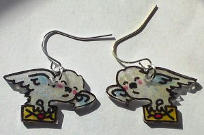 Cute Hedwig Owl Post earrings by Lovelyruthie