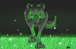 Wolf of Green by Agirafirewolf