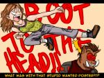Boot to the head by Vero-chan